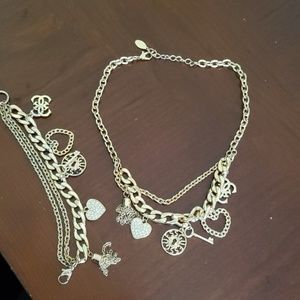 Guess necklace and bracelet